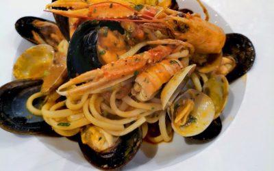 Seafood spaghetti, a real Mediterranean recipe