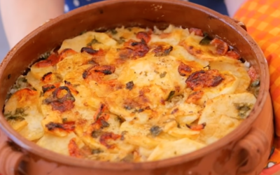 Tiella barese: rice, potatoes and mussels