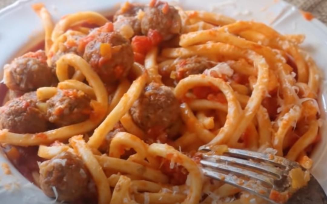 Usually you play it, in Abruzzo you eat it: maccheroni alla chitarra