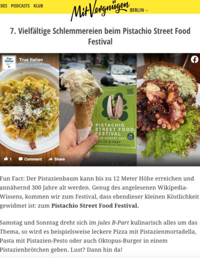 MitVergnügen Pistachio Street Food Festival